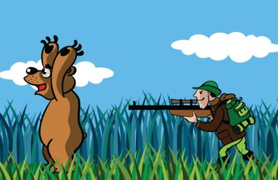 bear-and-the-hunter-vector-740242