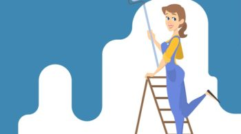 female-worker-painting-the-wall-with-blue-paint-and-roller-smiling-woman-decorating-room-illustration_277904-3244